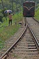 On the road to Colombo Sri Lanka, Railway and train station