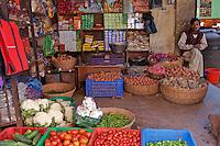 Bodhnath, Nepal.  Foodstuffs Vendor.