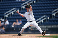 Scranton/Wilkes-Barre RailRiders relief pitcher Brooks Kriske (29) in action against the Rochester Red Wings at PNC Field on July 25, 2021 in Moosic, Pennsylvania. (Brian Westerholt/Four Seam Images)