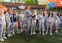 New York, NY - May 24, 2019:  Members of the USWNT visit the Good Morning America set in Central Park.