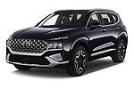 2021 Hyundai Santa-FE-Hybrid Limited-HEV 5 Door SUV Angular Front automotive stock photos of front three quarter view