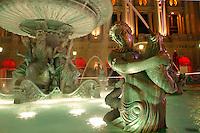 Fountains and pools outside Paris Las Vegas Hotel, Las Vegas, Clark County, N