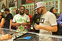 MIAMI BEACH, FL - JUNE 05: Floyd Mayweather Jr. and Rahool attend a pop-up launch of 50 Karats by Floyd Mayweather jewelry at the Fontainebleau Miami Beach on June 5, 2021 in Miami Beach, Florida. ( Photo by Johnny Louis / jlnphotography.com )