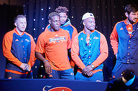 ALBUQUERQUE, NM -DECEMBER 15, 2016: The University of Texas at San Antonio Roadrunner Football Team defeats the University of New Mexico Lobos in Survey Says during Game Night at the Gildan New Mexico Bowl. (Photo by Jeff Huehn)