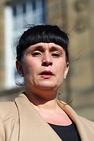 "COPY BY TOM BEDFORD<br /> Pictured: Gemma Black, the parents of one year old Pearl Black, give a statement at the Coroner's Court in Pontypridd, south Wales, UK. Thursday 25 October 2018 Re: The inquest into the death of a toddler who died after a parked Range Rover's brakes failed and it hit a garden wall which fell on top of her will be held at Pontypridd Coroner's Court, Wales, UK today (Thu 25 Oct 2018).<br /> One year old Pearl Melody Black and her eight-month-old brother were taken to hospital after the incident in Merthyr Tydfil, in August 2017.<br /> Pearl's family, father Paul who is The Voice contestant and mum Gemma have said she was ""as bright as the stars""."