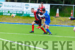 Donal Bosakan of Killarney Athletic v AC Athletic's Ali Caw contest for possession in Mounthawk Park on Sunday.
