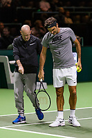 Rotterdam, The Netherlands, 16 Februari, 2018, ABNAMRO World Tennis Tournament, Ahoy, Tennis, Roger Federer with his coach Ljubicic (L)<br /> <br /> Photo: www.tennisimages.com