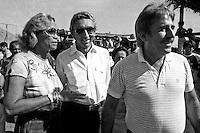 Garimpo de Serra Pelada.<br /> Major Curió e Edson Lobão.<br /> Foto Paulo Santos<br /> 1985
