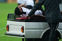 10nd June 2021; Beira-Rio Stadium, Porto Alegre, Brazil; Copa do Brazil, Internacional versus Vitoria; Soares of Vitória leaves the pitch after an injury