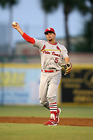 April 13, 2009:  Shortstop Pete Kozma (5) of the Palm Beach Cardinals, Florida State League Class-A affiliate of the St. Louis Cardinals, during a game at Hammond Stadium in Fort Myers, FL.  Photo by:  Mike Janes/Four Seam Images