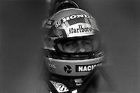 Pix:Michael Steele/SWpix...Motor Racing. Ayrton Senna, Silverstone, 1989...COPYRIGHT PICTURE>>SIMON WILKINSON..Ayrton Senna.