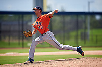 GCL Astros pitcher Whit Drennan (48) during a Gulf Coast League game against the GCL Nationals on August 9, 2019 at FITTEAM Ballpark of the Palm Beaches training complex in Palm Beach, Florida.  GCL Nationals defeated the GCL Astros 8-2.  (Mike Janes/Four Seam Images)