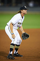 UCF Knights third baseman Brooks Morgan (5) during a game against the Siena Saints on February 17, 2017 at UCF Baseball Complex in Orlando, Florida.  UCF defeated Siena 17-6.  (Mike Janes/Four Seam Images)