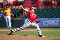 Harrisburg Senators pitcher Ryan Tapani (13) during a game against the Erie Seawolves on September 5, 2021 at UPMC Park in Erie, Pennsylvania.  (Mike Janes/Four Seam Images)