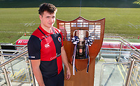 Monday 27th January 2020 | Ulster Schools' Cup Draw<br /> <br /> Ballyclare High School captain Jack Gamble at the draw for the Ulster Schools' Cup Quarter Finals held at Kingspan Stadium, Ravenhill Park, Belfast, Northern Ireland. Fixtures to be played on or before 8 Feb 2020.  Photo credit - John Dickson DICKSONDIGITAL