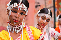 acrobatic gotipua dancer. Gotipuas are young boys of tender age. They dress up as girls using vaishnav devotional love songs of Radhakrishna