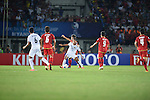 Thailand vs Myanmar during the 2014 AFC U19 Mens Championship group A match on October 1, 2015 at the Thuwunna Stadium, in Yangon, Myanmar. Photo by World Sport Group