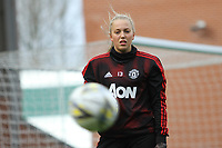 Emily Ramsey (Manchester United Women) during the English Womens Championship match between Manchester United Women and Leicester City Women at Leigh Sports Village, Leigh, England on 10 March 2019. Photo by James Gill / PRiME Media Images.