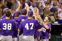 TCU's Witte, Jantzen 2769.jpg against Florida State at the College World Series on June 23rd, 2010 at Rosenblatt Stadium in Omaha, Nebraska.  (Photo by Andrew Woolley / Four Seam Images)