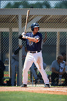 GCL Tigers East designated hitter Daniel Reyes (24) at bat during a game against the GCL Tigers West on August 8, 2018 at Tigertown in Lakeland, Florida.  GCL Tigers East defeated GCL Tigers West 3-1.  (Mike Janes/Four Seam Images)