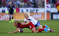 Frisco, TX - April 6, 2017: The U.S. Women's national team go up 2-0 over Russia with Allie Long contributing a goal in an international friendly match at Toyota stadium.