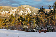 Mount Huntington from the Pemigewasset Scenic Overlook along the Kancamagus Highway (route 112) in the White Mountains, New Hampshire.