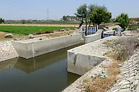 EGYPT, governate Beheira, Kafra Eldawar, farming in the Nile delta , irrigation canal , nile water / AEGYPTEN, Beheira, Landwirtschaft im Nildelta, Kanal fuer Bewaesserung mit Nil Wasser