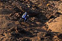 5th January 2021; Dakar Rally stage 3; #42 Van Beveren Adrien (fra), Yamaha, Monster Energy Yamaha Rally Team, Moto, Bike, action during the 3rd stage of the Dakar 2021 between Wadi Al Dawasir and Wadi Al Dawasir, in Saudi Arabia on January 5, 2021