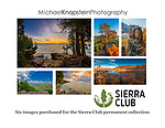 The Sierra Club added six photographs by Wisconsin photographer Michael Knapstein to their permanent collection in November, 2017. The images were all taken in State or County Parks in Wisconsin.