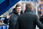 Rangers v St Johnstone…16.02.19…   Ibrox    SPFL<br />Tommy Wright and Steven Gerrard greet each other before kick off<br />Picture by Graeme Hart. <br />Copyright Perthshire Picture Agency<br />Tel: 01738 623350  Mobile: 07990 594431