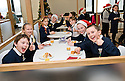 16/12/2010   Copyright  Pic : James Stewart.033_carol_singers  .::  SERCO :: PUPILS FROM LARBERT VILLAGE PRIMARY SCHOOL BUILD UP THEIR ENERGY BEFORE THEY SING CAROLS FOR THE STAFF AND VISITORS AT THE FORTH VALLEY ROYAL HOSPITAL RESTAURANT   ::