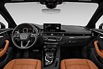 Stock photo of straight dashboard view of 2021 Audi A4-allroad Premium-Plus 5 Door Wagon Dashboard