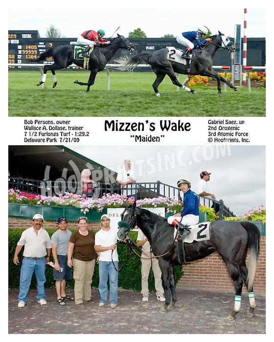 Mizzen's Wake winning at Delaware Park on 7/21/09