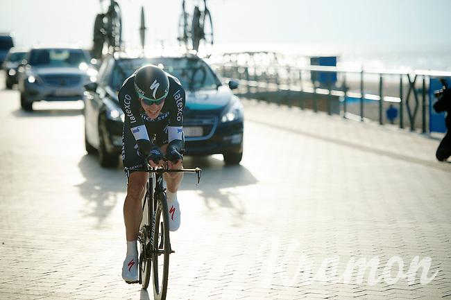 Julien Vermote (BEL) racing next to the beach<br /> <br /> 3 Days of West-Flanders 2014<br /> day 1: TT/prologue Middelkerke 7,0 km
