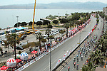 The peloton during the closing kilometres of Stage 7 of the 2015 Presidential Tour of Turkey running 166km from Selcuk to Izmir. 2nd May 2015.<br /> Photo: Tour of Turkey/Mario Stiehl/www.newsfile.ie