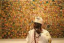 Nigerian artist Chief Olaruntoba at his October Gallery opening