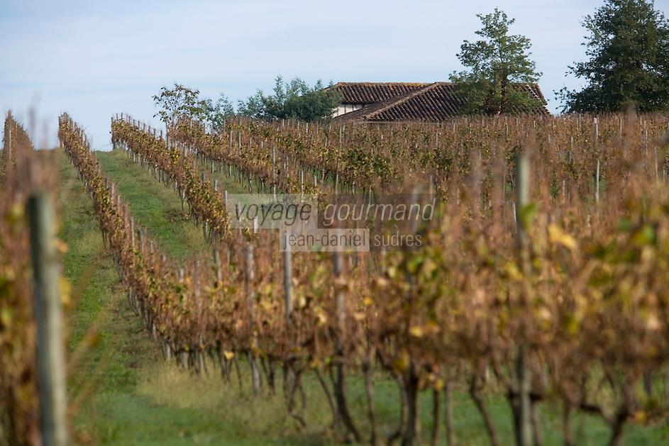 Europe/France/Aquitaine/40/Landes/Mauvezin-d'Armagnac: Domaine de l'Espérance Jean-Louis et Claire de Montesquiou  produisent un Armagnac et aussi du vin de gascogne.Le vignoble