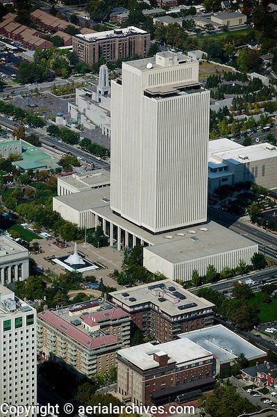 aerial photograph of the LDS Church Office Building, Salt Lake City, Utah