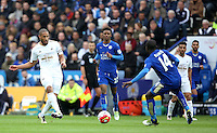 Ashley Williams of Swansea City during the Barclays Premier League match between Leicester City and Swansea City played at The King Power Stadium, Leicester on April 24th 2016