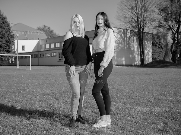 Krasnystaw 17.10.2019 Poland<br /> Paulina and Wiktoria, two eighteen-year-olds, students of the secondary technical school in Krasnystaw. They dream of emigrating abroad.<br /> Photo: Adam Lach
