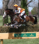 April 26, 2014: Wundermaske and Sharon White compete in Cross Country at the Rolex Three Day Event in Lexington, KY at the Kentucky Horse Park.  Candice Chavez/ESW/CSM