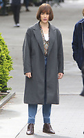 NEW YORK, NY - MAY 4: Elizabeth Henstridge on the set of the new Apple Tv series Suspicion at Washington Square Park in New York City on May 04, 2021. <br /> CAP/MPI/RW<br /> ©RW/MPI/Capital Pictures