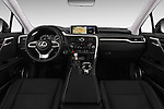 Stock photo of straight dashboard view of 2016 Lexus RX Executive 5 Door SUV Dashboard