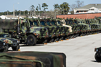 Military trucks, Marine Corps Base Camp Lejeune, North Carolina, USA
