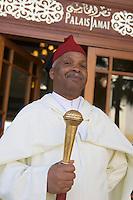 Afrique/Afrique du Nord/Maroc/Fèz: Portier du Palais Jamai