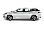Car Driver side profile view of a 2020 Renault Megane Intens 5 Door Wagon Side View
