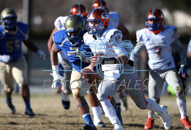 Bishop Gorman quarterback Tate Martell runs against Reed in an NIAA Division I playoff game at Reed High School in Sparks, Nev., on Saturday, Nov. 28, 2015. Bishop Gorman won 41-13. (Cathleen Allison/Las Vegas Review-Journal)