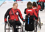 Sochi, RUSSIA - Mar 7 2014 -  Dennis Thiessen of Canada's Wheelchair Curling Team trains before the Sochi 2014 Paralympic Winter Games in Sochi, Russia.  (Photo: Matthew Murnaghan/Canadian Paralympic Committee)