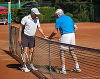 Etten-Leur, The Netherlands, August 23, 2016,  TC Etten, NVK, Theo de Waal (NED) (L) and  Hans van Hout (NED) 80+ <br /> Photo: Tennisimages/Henk Koster