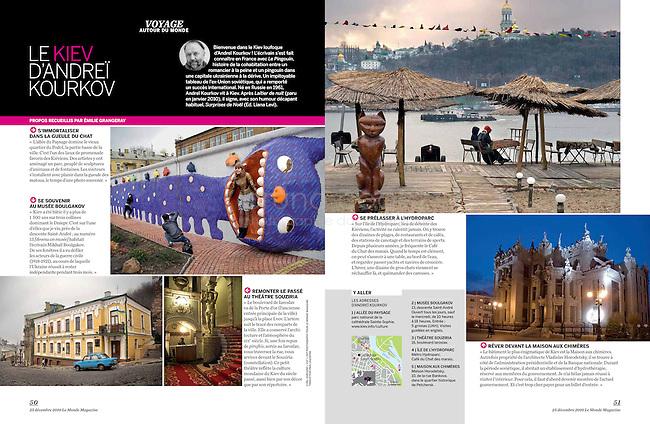 Le Monde 2 (weekly supplement of Le Monde)..Kiev of Kourkov - 2010/12/25..Photos: Cyril Horiszny